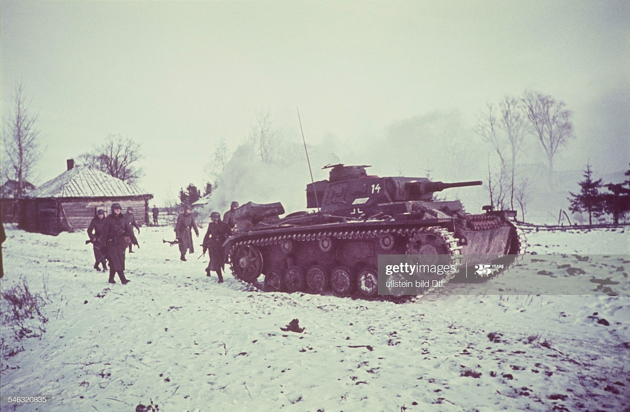 German offensive on Moscow. Photo in color