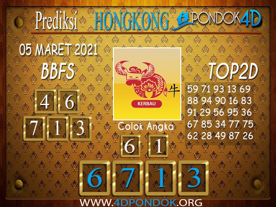 Prediksi Togel HONGKONG PONDOK4D 05 MARET 2021