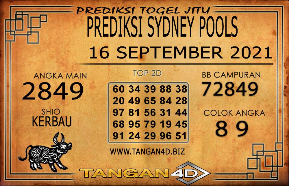 PREDIKSI TOGEL SYDNEY TANGAN4D 16 SEPTEMBER 2021