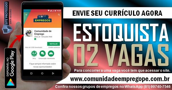 ESTOQUISTA, 02 VAGAS PARA EMPRESA DE AUTOPEÇAS AUTOMOTIVAS NO RECIFE