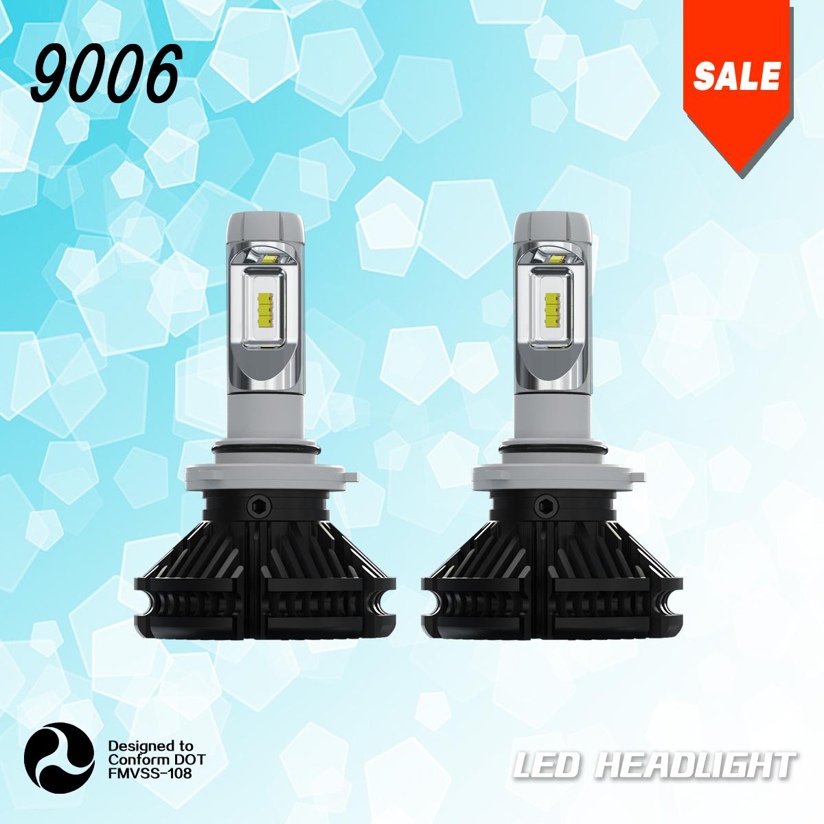 9006 HB4 LED Headlight Bulbs Conversion Kit Lamps 6000K
