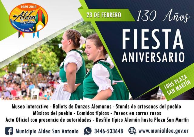 Locales: Presentaci�n oficial fiesta por los 130 a�os de Aldea  San Antonio