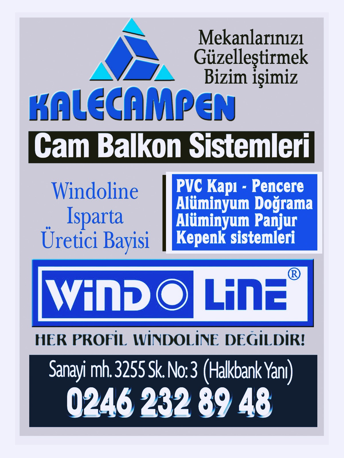 ISPARTA cam balkon