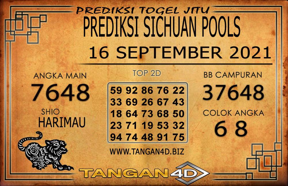 PREDIKSI TOGEL SICHUAN TANGAN4D 16 SEPTEMBER 2021