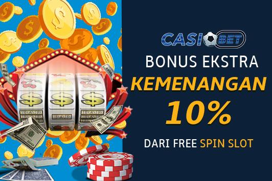 Bonus ekstra 10% kemenangan Free Spin Game Slot