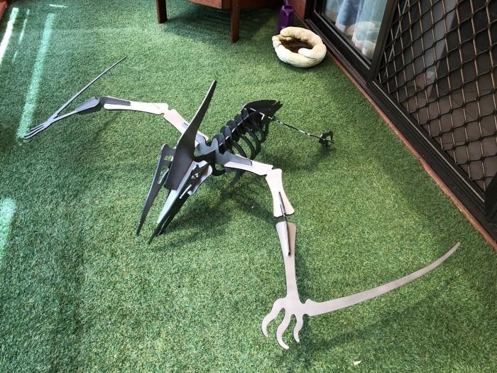 pterodactyl dinosaur LASER CUT STEEL GARDEN ART