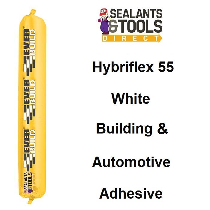 Everbuild Tecnic Hybriflex 55 Adhesive Sealant White Box of 12 FPHYB55WE