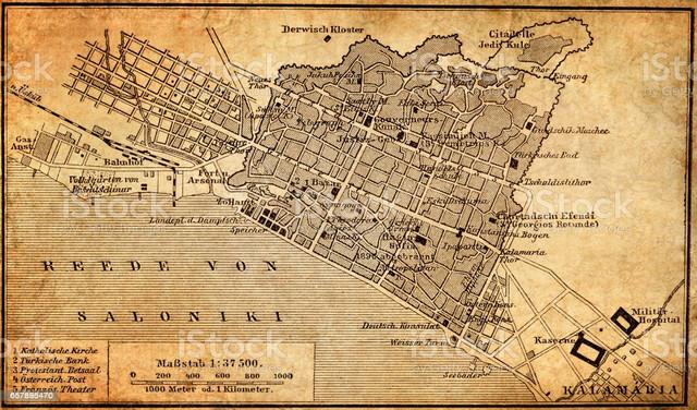 Illustration-of-a-city-map-of-Thessaloniki-Greece