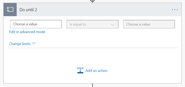 Screenshot of setting an instance for the loop to end