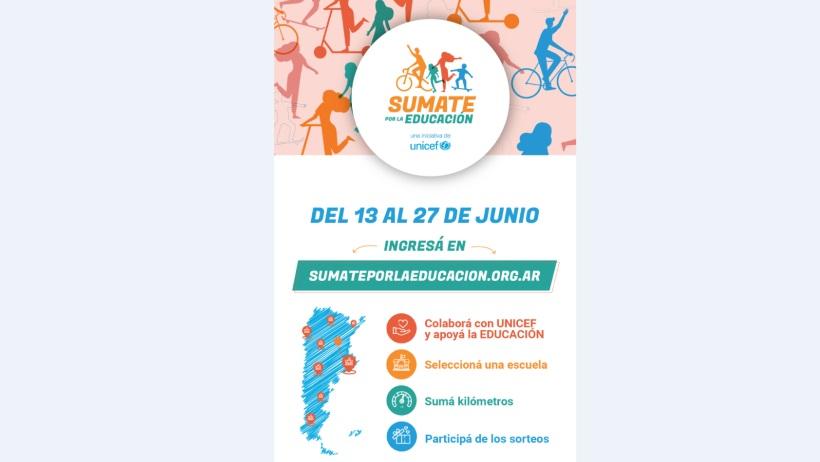 Unicef lanza una iniciativa solidaria para sumar kilómetros por la educación (Link de acceso)