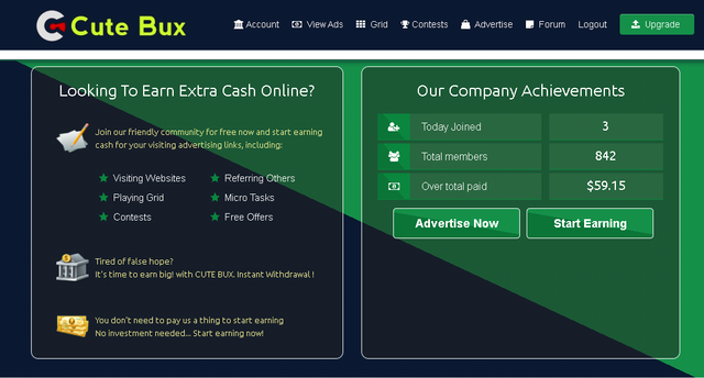 Cutebux.biz Review-SCAM or LEGIT?