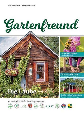 Cover: Gartenfreund Magazin Oktober No 10 2021