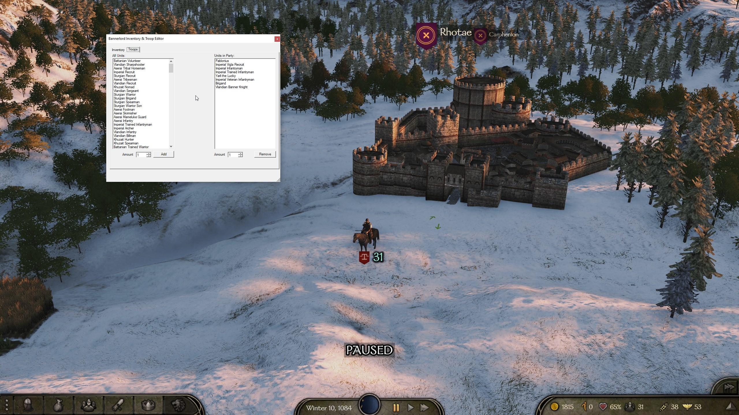 Mount & Blade 2: Bannerlord CITEditor (Редактор инвентаря и войск)