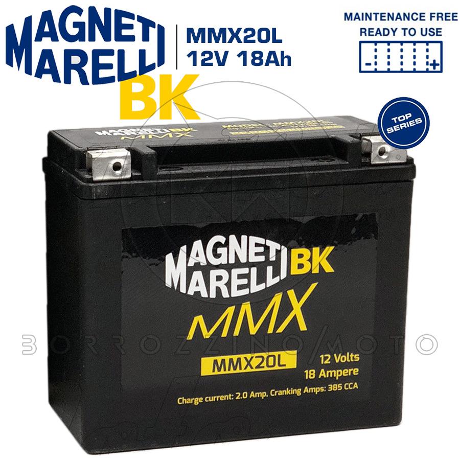 MMX20L BATTERIA MAGNETI MARELLI YTX20L-BS HARLEY Dyna Street Bob 1584 2007 2008