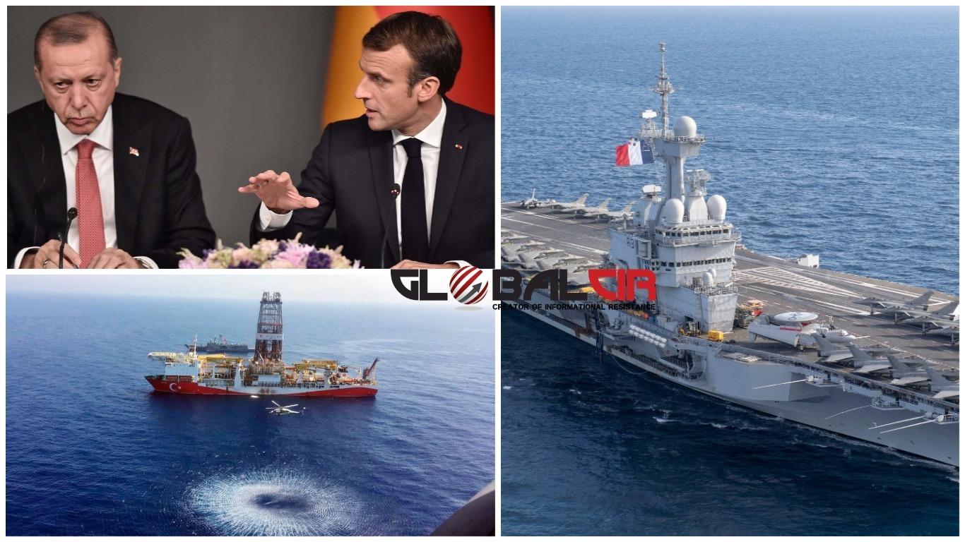 JEDNOSTRANE TURSKE ODLUKE IZAZIVAJU TENZIJE U ISTOČNOM MEDITERANU! Macron:  U narednim ću danima ojačati francusko vojno prisustvo u toj regiji! -  GlobalCir