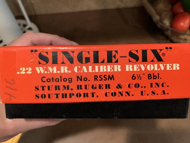 dating ruger single șase