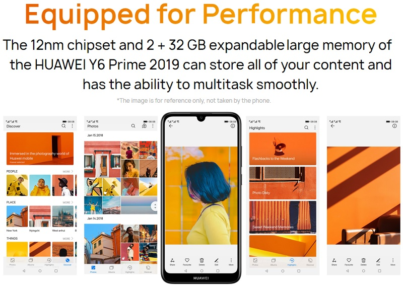 Huawei Y6 Prime 2019 6 09-Inch HD+ Dewdrop (2GB,32GB ROM) Android