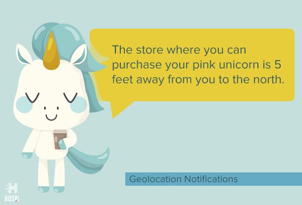 geolocation-based push notification