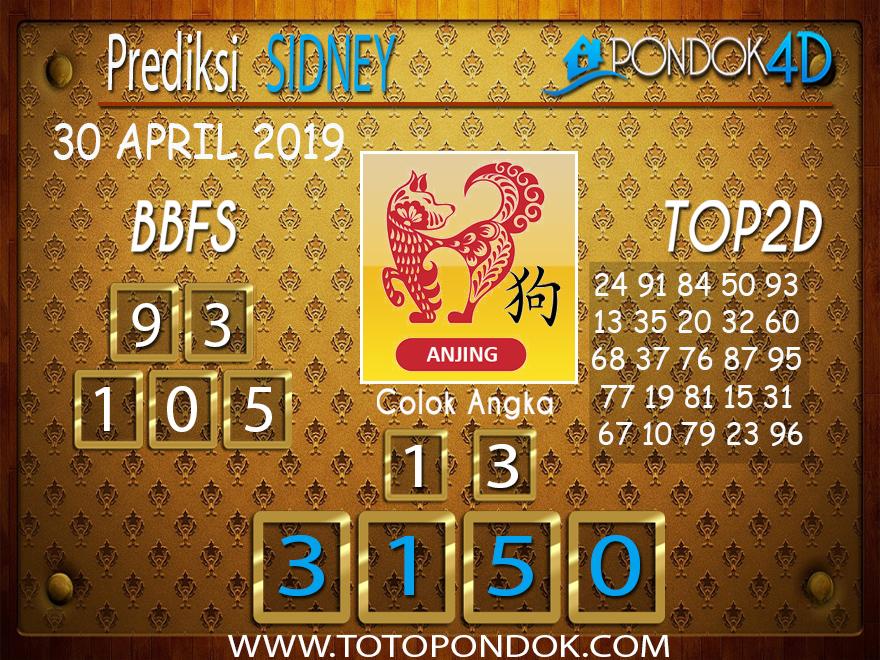 Prediksi Togel SYDNEY PONDOK4D 30 APRIL 2019