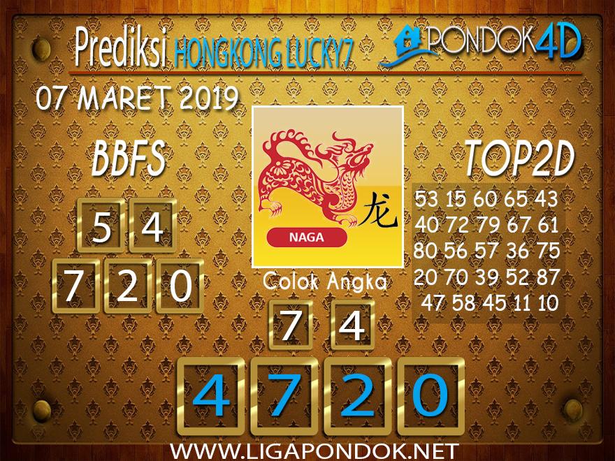 Prediksi Togel HONGKONG LUCKY7 PONDOK4D 07 MARET 2019