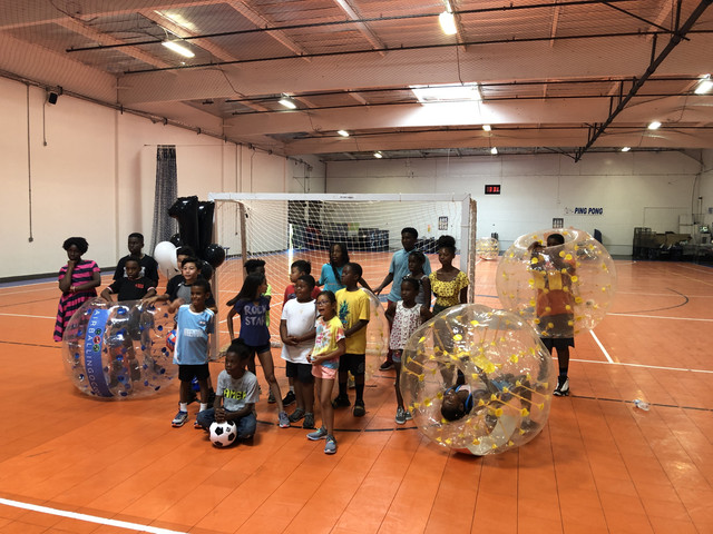 Bubble Soccer in LA Galaxy Soccer Center