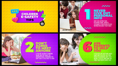 Children E-Safety Tips - Kids Education 30470989 - Project for After Effects (Videohive)