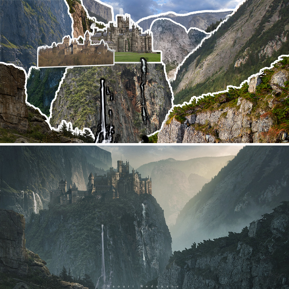 before and after 7 digital landscapes photoshop video training