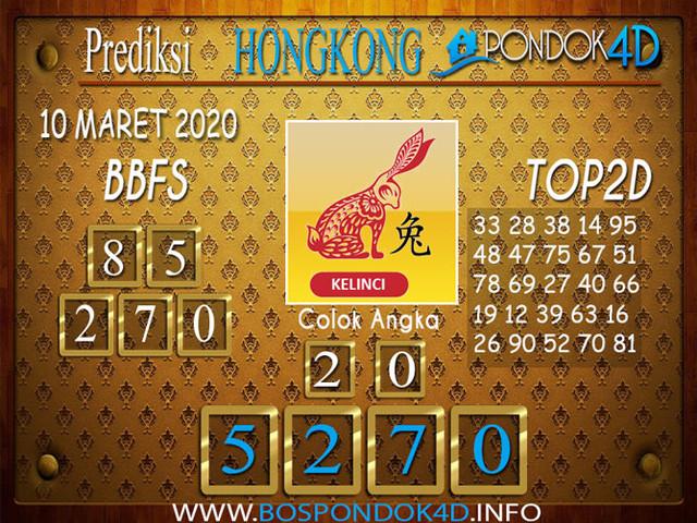 Prediksi Togel HONGKONG PONDOK4D 10 MARET 2020