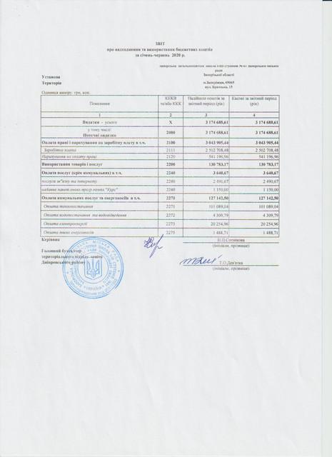 Звіт про надходження та використання бюджетних коштів Jpg