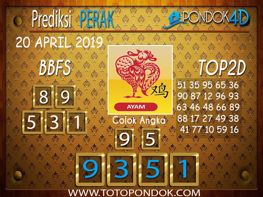 Prediksi Togel PERAK PONDOK4D 20 APRIL 2019
