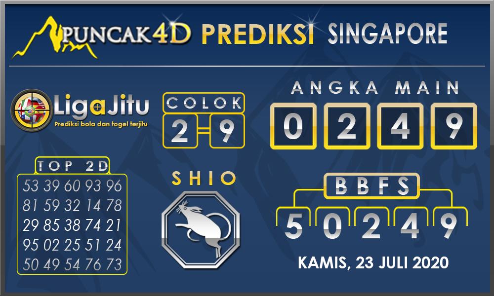 PREDIKSI TOGEL SINGAPORE PUNCAK4D 23 JULI 2020
