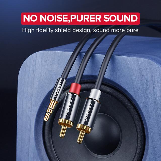 2-Ugreen-Cable-RCA-est-reo-Hi-Fi-2-RCA-a-3-5mm-Cable-de-Audio-auxiliar-RCA-Jack