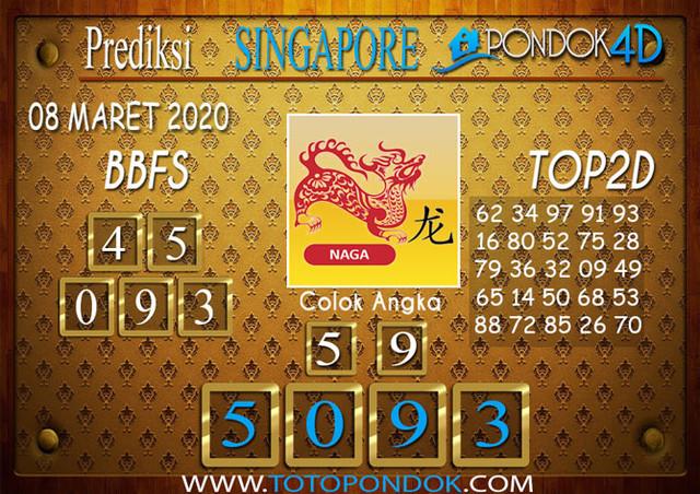 Prediksi Togel SINGAPORE PONDOK4D 08 MARET 2020