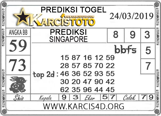Prediksi Togel SINGAPORE KARCISTOTO 24 MARET 2019