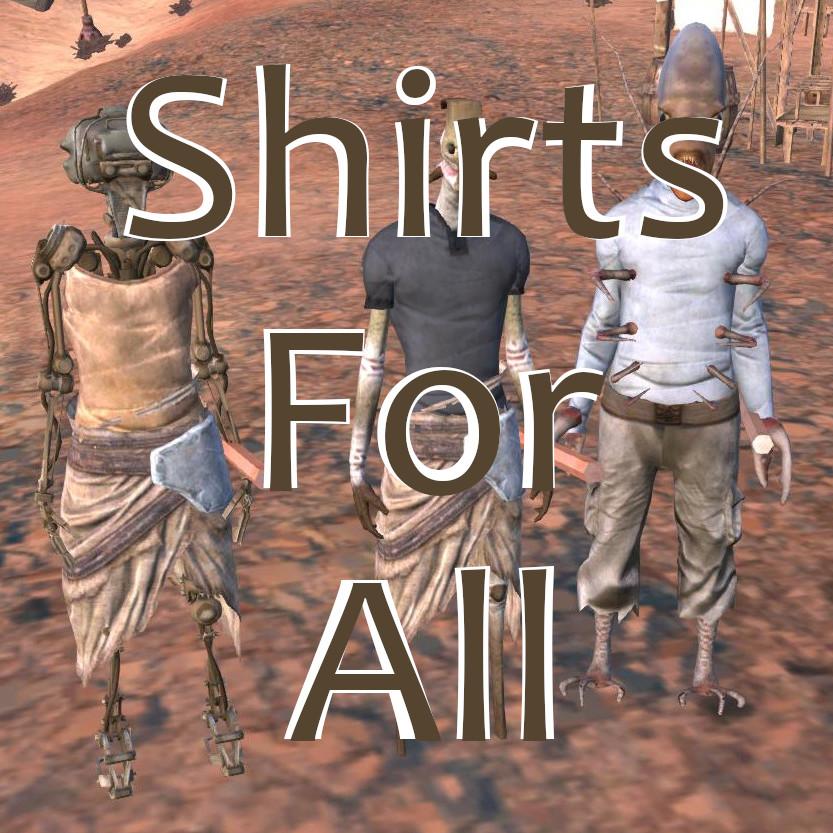 Shirts For All - Unlock Armor Slots / Рубашки для всех - Открытие слотов брони