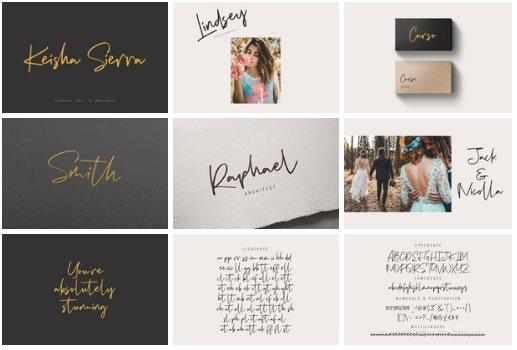 Keisha Sierra | Signature Font
