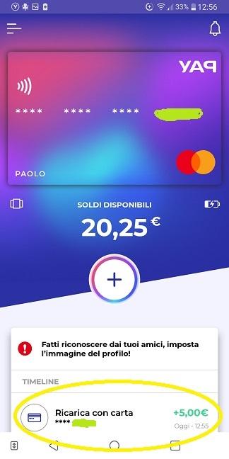 YAP L'App gratuita che ti restituisce denaro! CASHBACK RESTITUZIONE DENARO SU USO CONTO! - Pagina 2 Ricarica-skin-2