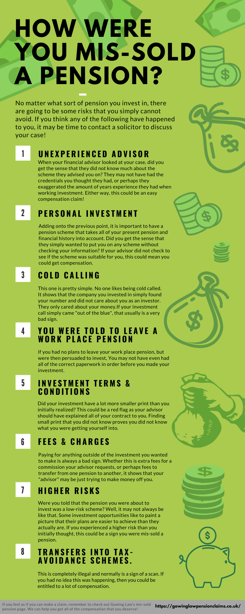 Being mis-sold a pension infographic