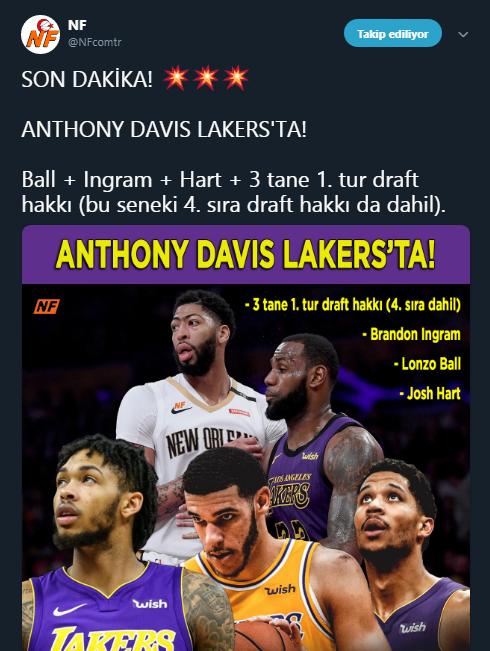 Anthony Davis Los Angeles Lakers'ta