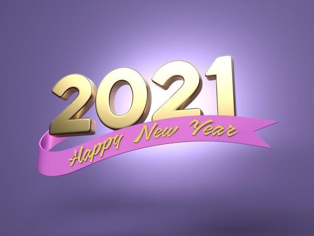 Happy New Year 2021 3d