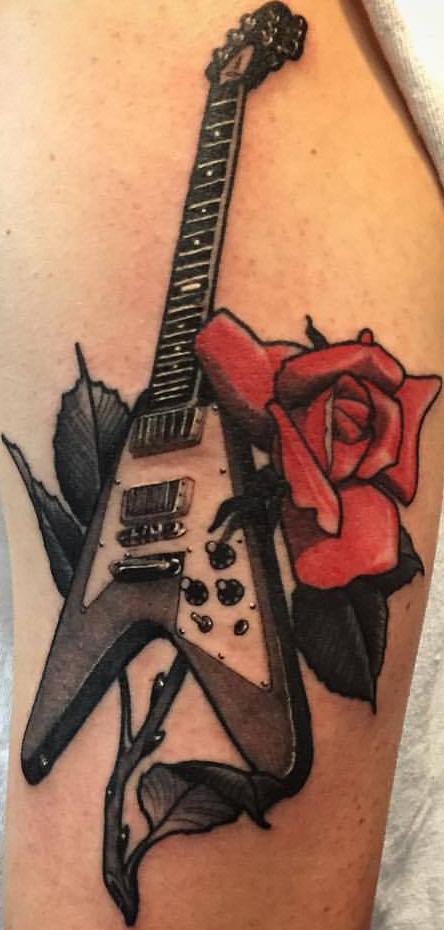 Guitar-Rose