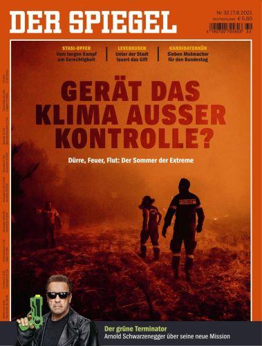 Cover: Der Spiegel Nachrichtenmagazin No 32 vom 07  August 2021