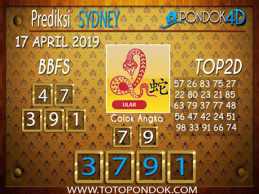 Prediksi Togel SYDNEY PONDOK4D 17 APRIL 2019
