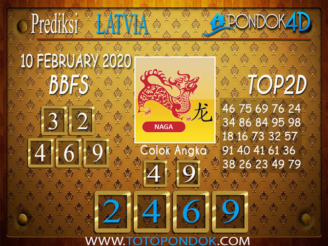 Prediksi Togel LATVIA POOLS PONDOK4D 10 FEBRUARY 2020
