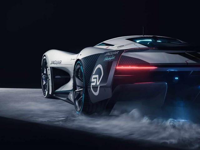 Jaguar Lève Le Voile Sur La Vision Gran Turismo SV : La Voiture De Course 100% Électrique Ultime Pour Les Passionnés De Course Automobile Jag-GTSV-Rear34-1-161220