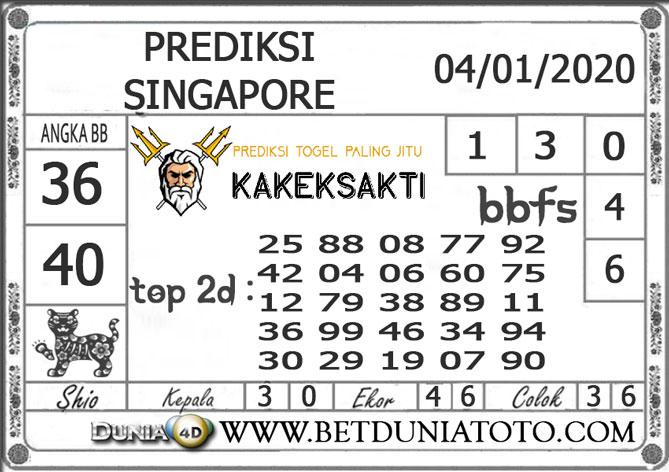 PREDIKSI TOGEL SINGAPORE DUNIA4D 04 JANUARI 2020