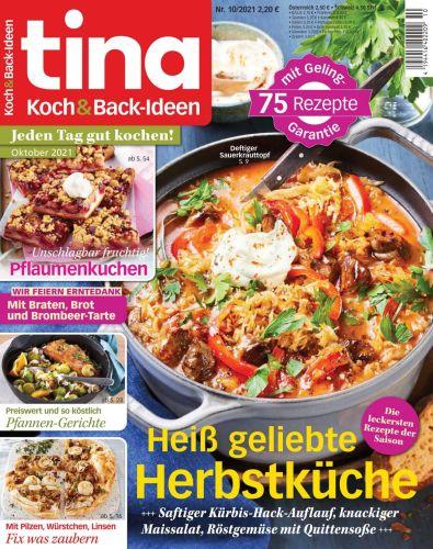 Cover: Tina Koch und Backideen Magazin No 10 2021