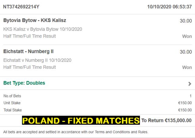 POLAND - FIXED MATCHES