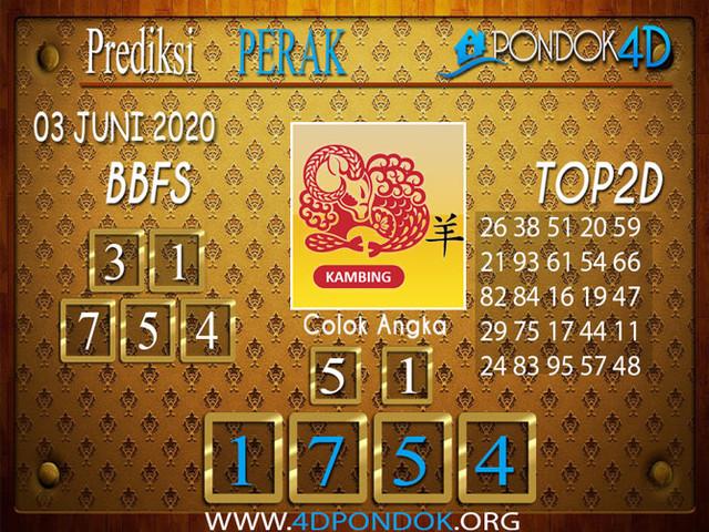 Prediksi Togel PERAK PONDOK4D 03 JUNI 2020