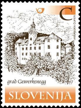 Slovenia stamps CASTLE-GRAD-GEWERKENEGG